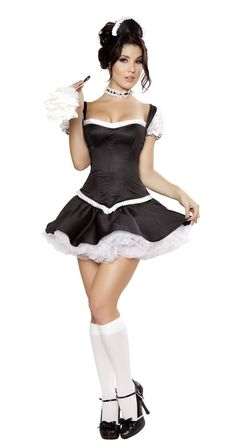 5pc Mistress Maid 5pc Mistress Maid 5pc Mistress Maid Directions Click the thumbnail to change view. Click the large image for a slideshow. Email A Friend Email a Friend About This Item View Size Chart View Size Chart Login to Submit a Review   5pc Mistress Maid Includes top with lace up back, skirt, headband, feather duster, and choker.