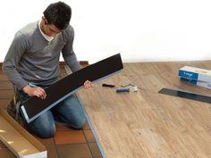 Vinyl-Planken auf Fliesen legen