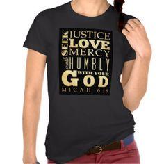 Christian Scriptural Bible Verse - Micah 6:8 T-shirts