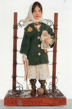 "13"" one of a kind doll Lest We Forget from the Holocaust Series  davidrobertsonartist@yahoo.com"