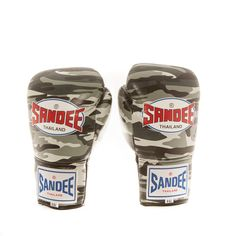 Sandee Lace Up Pro Fight Boxing Gloves Urban Camo