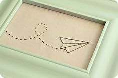 paper airplane embroidery