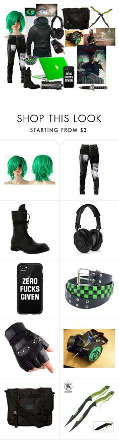 """""""Diablo (assassin: devils acre)"""" by lulu-dusk on Polyvore featuring Any Old Iron, Rick Owens, Master & Dynamic, Casetify, GAS Jeans, Burton, men's fashion and menswear"""