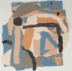 collageoftheweek: Francis Davison, Blue Angle in Orange Square n.d.