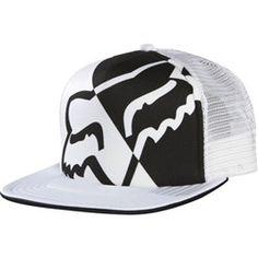 Fox Racing Womens Integrate Trucker Hat in White Deals on - Fox Womens Juniors Integrate Trucker Coupons, Flat Bill Hats, Flat Hats, Riding Hats, Riding Gear, Country Hats, Fox Hat, Fox Logo, Cowgirl Hats, Fox Racing