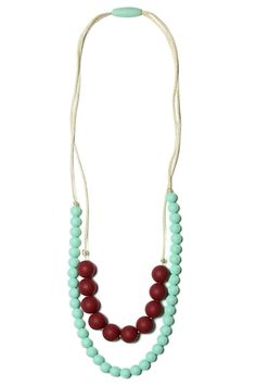 Deila Marsala Teething Necklace | Mama & Little Teething Jewelry