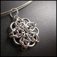 Celtic Star Chainmaille Pendant Necklace Free by...
