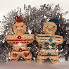 Crochet pattern Gingerbread Man Ornament. Amigurumi jacquard souvenir. Kids toy. Holiday gift. Christmas tree decoration. Knitting kits #amigurumi #gingerbreadmen #crochetpattern #christmasgifts