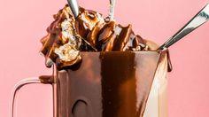 Chocolate Fondue, Chocolate Cake, Cake Chocolat, Moscow Mule Mugs, Milkshake, Caramel Apples, Creme, Styles, Cooking