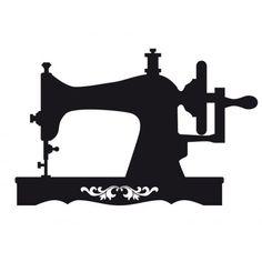 public domain vintage sewing machine clipart stencils rh pinterest com sewing machine clip art black and white sewing machine clipart png