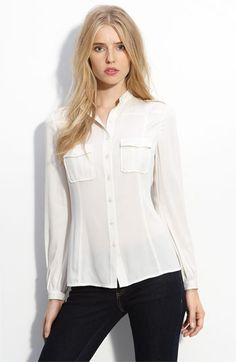 White Georgette Blouse
