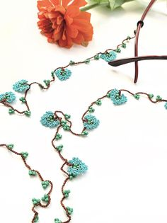 Eyeglass Chain / Crochet Glasses Chains / Eyeglass Holder with Flowers / Sunglasses Chain / Eye Glass Chain / Eyeglass Cord / Gift for Mom Lanyard Necklace, Eyeglass Holder, Crochet Flowers, Eyeglasses, Gifts For Mom, Chain, Face Masks, Etsy, Jewelry