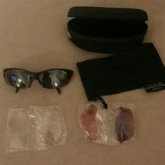 I just discovered this while shopping on Poshmark: Unisex Interchangeble Sport Sunglasses. Check it out!  Size: OS