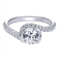 #JewelryDesignCenter white gold diamond ring see it on @theknot