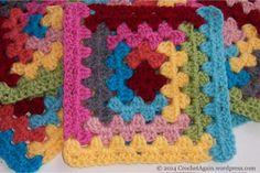 Log Cabin Granny Square - free crochet pattern from Crochet Again.