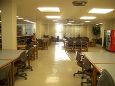 A look at the open area in front of the reference desk