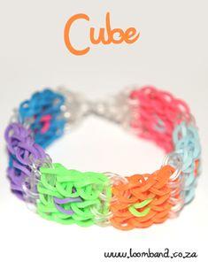 Cube loom band bracelet