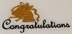 Digital Embroidery Design Congratulations by EmbroideryDesignsBRN