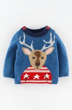 Mini Boden Intarsia Knit Sweater (Baby Boys) | Nordstrom