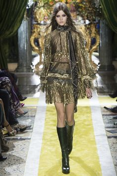 See the Roberto Cavalli autumn/winter 2016 collection. Click through for full gallery at vogue.co.uk