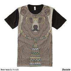Bear-man All-Over Print T-shirt. Regalos Padres, fathers gifts, #DiaDelPadre #FathersDay