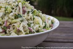 The Kitchenista Diaries: Green Cabbage Slaw