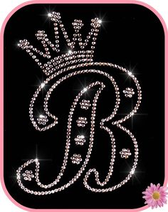 Image detail for -Rhinestone Iron On Transfer Monogram Initial with PRINCESS CROWN ...