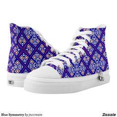 Blue Symmetry Printed Shoes