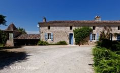 If you imagine staying in a traditional French farmhouse, surrounded by original features, pretty-coloured shutters complementing ancient stonework, then this is the property  for you. #french #luxury #holiday