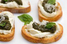 Pesto Cheese Crostini — Punchfork