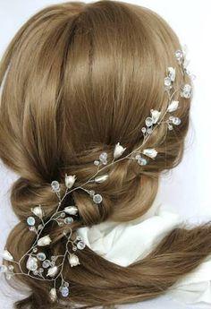 hair vines, blue