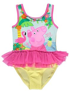 Whether your little one is learning to swim or is already a fully-fledged Water Baby, they'll love practicing in the pool wearing their Peppa Pig swimsuit. Girls Fashion Clothes, Kids Outfits Girls, Baby Boy Outfits, Kids Fashion, Hello Kitty Birthday Cake, Peppa Pig Birthday Cake, Peppa Pig Outfit, O Happy Day, Miraculous Ladybug Movie