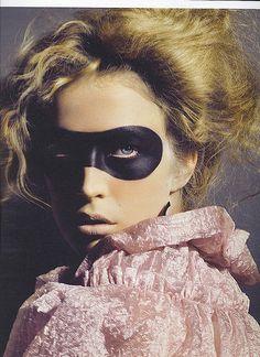 #editorial #fashion #mask #black #pink #pastel