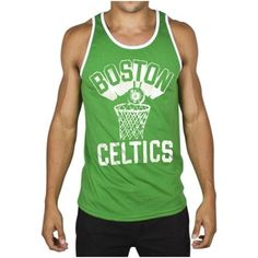 Junk Food Boston Celtics Tip-Off Tank - Kelly Green