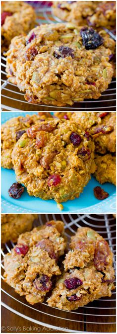 Healthy Breakfast Cookies by sallysbakingaddiction #Breakfast #Healthy #Cookies #Easy