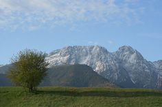 Giewont - as the legend has it, it is a sleeping knight, here in the morning sun.  The view from Zakopane, Poland