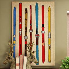 Loon-Peak%C2%AE-Vintage-Skis-II-Painting-Print-on-Wrapped-Canvas.jpg (1500×1500)