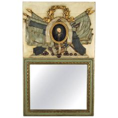 19th Century French Painted Trumeau, with portrait of General La Fayette | 1stdibs.com