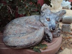 Fox Stone Cold Gray Fox Hand Cast Hand by MountainArtCasting, $47.95