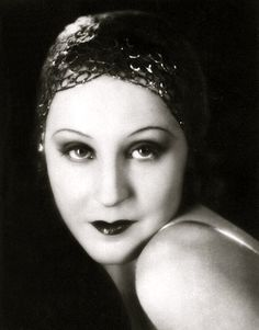 """Brigette Helm, 1928 (1906-1996). German actress best remembered for her dual role in Fritz Lang's 1927 silent film, """"Metropolis""""."""