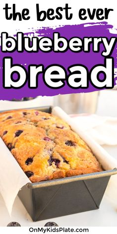 Blueberry Bread is a quick bread mixed fast with no yeast, and most of the work is done baking in the oven. This breakfast tastes just like a blueberry muffin and is perfect to share with family. You'll love this easy Blueberry Bread Recipe. #blueberry #bread #blueberrycake #breakfastbread #quickbread