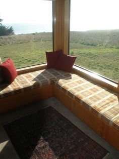 Maybe a corner window seat for bedroom...if possible.