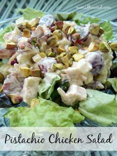 Num's the Word:  Looking for a tasty meal that requires ZERO oven or Stove use?  This Pistachio Chicken Salad is delicious and easy to make!  It takes only a few minutes to pull together and is delicious.