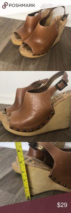 adfbbe0b771c Sam Edelman wood wedge heel Sam Edelman wood Wedge Heel Size 8.5 Minor  wear-I