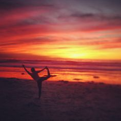 Sunset dancer, fire in the sky.