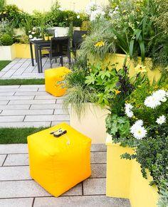 Modern garden as comfortable seating area