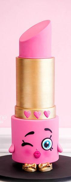 Shopkins Lipstick Cake