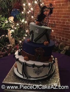Nightmare Before Christmas wedding cake