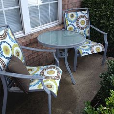 Spain Hill Farm: Patio Set Redo Replace the fabric in your patio sling chairs…