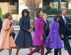 Obama Family on Inauguration Day, 2013